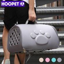 HOOPET 개 캐리어 가방 휴대용 고양이 핸드백 접이식 야외 여행 가방 강아지 운반 어깨 배낭 애완 동물 가방