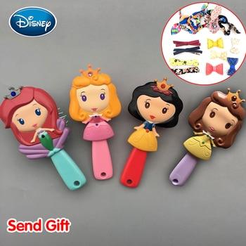 Peine Disney princesa Blancanieves Ariel Belle Aurora dibujos animados 3D estéreo peine cómodo aire peine cojín buen regalo para niñas