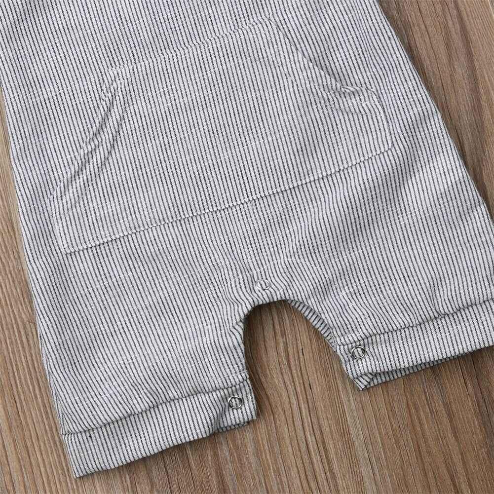 Pasgeboren Baby Jongen Meisje Outfit Kleding Romper Tops Jumpsuit Shorts Broek Een Stuk Sleeveness Rompertjes O Hals Gestreepte Jumpsuit