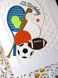 Image 2 - Piggy Craft metal cutting dies cut die mold Sports ball decoration Scrapbook paper craft knife mould blade punch stencils dies