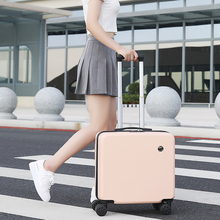 Fashion small Suitcase for women Waterproof travel luggage bags Designer suitcase Luggage 18 20 inch Portable carry on luggage cheap CN(Origin) 2 5kg 23cm Carry-Ons 43cm Spinner 46cm 157846 Unisex