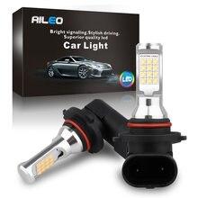 Aileo canbus nenhum erro 6000k branco alta qualidade 9005 9006 hb3 hb4 h10 9145 led luzes de nevoeiro do carro lâmpadas auto drl nenhuma polaridade nevoeiro lâmpada