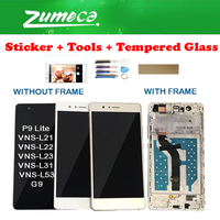 Met/Zonder Frame Voor Huawei P9 Lite VNS-L21 VNS-L22 VNS-L23 VNS-L31 Lcd-scherm + Touch Screen Digitizer Zwart Wit goud + Kits