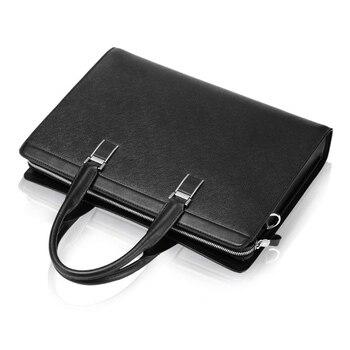 """Leather men office bag men briefcase men 14"""" shoulder bag brand men briefcase gentleman portable business bag"""
