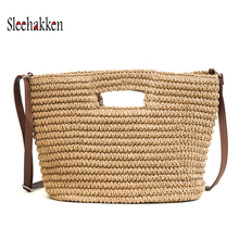 Straw Woven Bag Handmade Rattan Women Crossbody Handbag Summer Beach bags for women 2019 sac a main femme