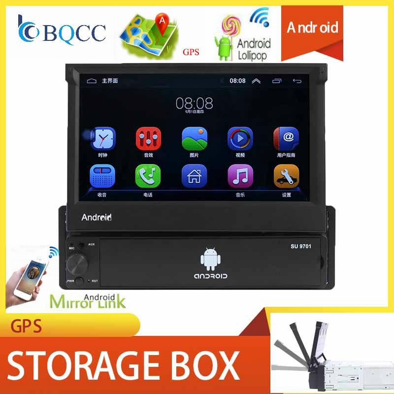 7 Android автомобильный Радио Стерео gps навигация сабвуфер Bluetooth USB SD 1 Din сенсорный мультимедийный плеер аудио Авторадио