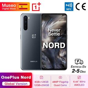 Перейти на Алиэкспресс и купить Глобальная версия OnePlus Nord 5G Смартфон Snapdragon 76 5G 8 Гб 128 ГБ 6,44 ''90 Гц AMOLED экран 48MP Quad задние камеры 30W NFC
