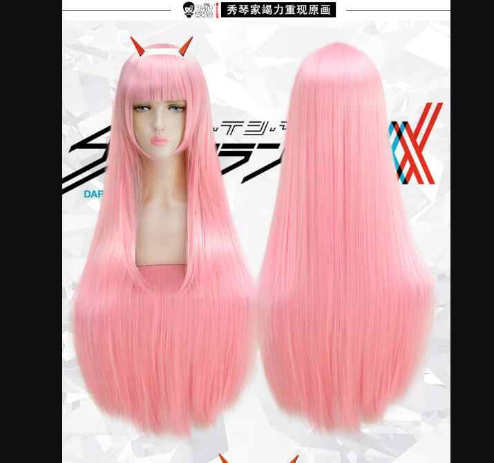 WANTED on FRANXX Zero Cosplay Wig Two Costume ICHIGO Wigs Set Halloween Costumes Hair NEW High Quality