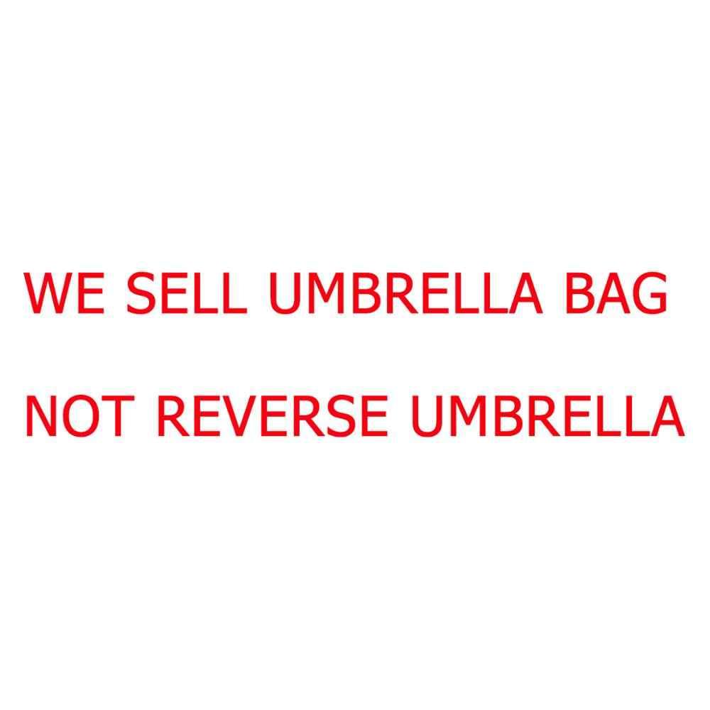 Yesello katlanır ters şemsiye çanta çift katmanlı ters rüzgar geçirmez yağmur araba şemsiye kapağı kadın C kolu şemsiye çantası