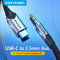 Vention-Cable Adaptador de Audio USB C a 3,5mm para auriculares, conector Jack 3,5, para Huawei P40, nova7, Xiaomi Mi 6, 9, 10 Pro, Oneplus 7