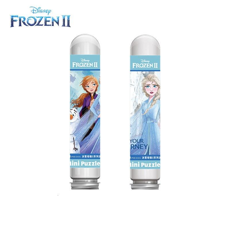 Disney Genuine Frozen 2 Snow Witch Tube Pack Puzzle 150 Piece Mini Puzzle Decompression Educational Toys