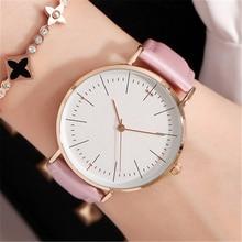 цена Luxury Simple Women's Watches Fashion Casual Motion Women Watch Ladies Quartz Leather Wristwatch Romantic Clock Montre Femme онлайн в 2017 году