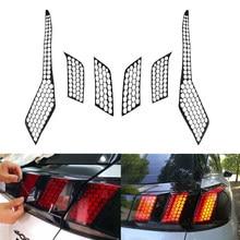 Para PEUGEOT 2016 17 18 2019 GT 3008/5008 GT 2017, 2018 Exterior del coche accesorios de luz para faro trasero cubierta tipo panal pegatinas