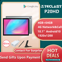 Teclast P20HD Tablet Nieuwste Android 10 Tabletten Pc 4G Lte 10.1 Inch 4Gb Ram 64Gb Rom SC9863A octa Core Tabletas 1920X1200 Gps