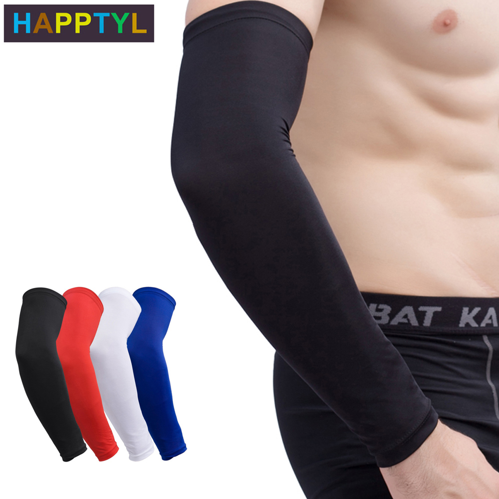 HAPPTYL 1Pcs Youth Arm Sleeve - Compression Elbow Brace Support For Girls / Boys / Kids - Sports Sleeves For Basketball