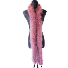 50g super Fluffy leather Pink Marabou Boa Turkey Feathers Ribbon Shaw Scarf for Wedding Dress Decoration Sewing plume Crafts