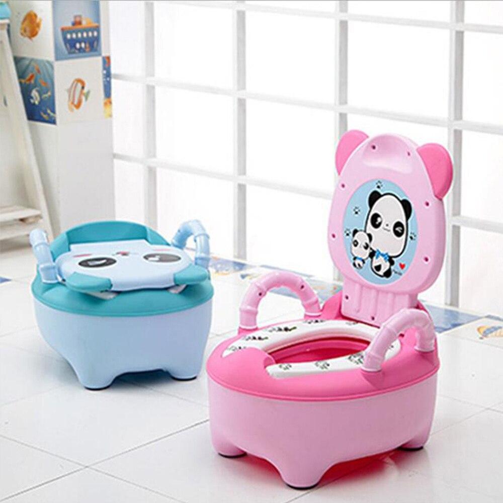 Portable Baby Pot For Children Potty Training Toilet Seat Baby Potty Infant Bedpan Comfortable Backrest Seats Cartoon Cute Pots