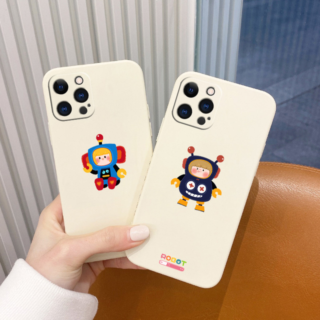 Soft Cartoon Pattern Liquid Silicone Case For iPhone 12 Pro Max 11 X XS  XR XSMAX SE2020 8 8Plus 7 7Plus 6 6S Plus 5 5S 1