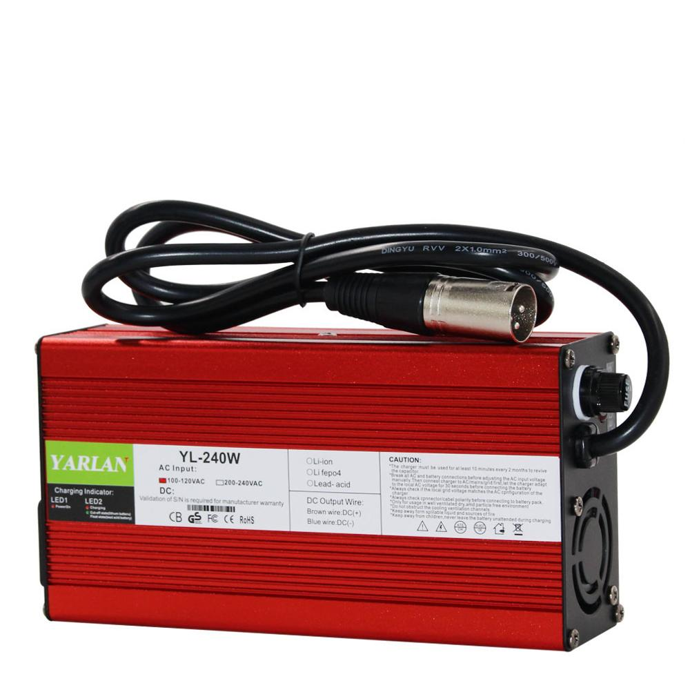 60V 2A Charger 20AH Lead Acid Battery Charger Adapter Smart Charging 2A For Electric Bicycle Bike Scooters