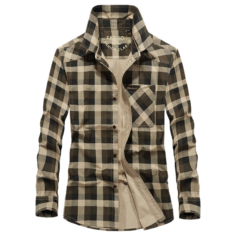 Brand Military Shirt Men Autumn Casual Long Sleeves Single Breasted Shirt Male Pure Cotton Shirts Plus Size M-3XL