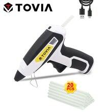 Cordless Hot Glue Gun 7mm Hot Glue Gun Wireless USB Charger Hot Melt Glue Adhesive Gun for Melting Sticks Home DIY Repair Tools