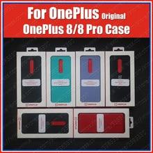 IN2010 официальная коробка Oneplus 8 чехол песчаник бампер (100% оригинал) Oneplus 8 Pro Чехол песчаник нейлон Karbon Обложка