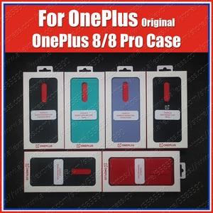 Image 1 - IN2010 oficjalne pudełko Oneplus 8 Case piaskowiec zderzak (100% oryginalny) Oneplus 8 Pro Case piaskowiec Nylon Karbon Cover