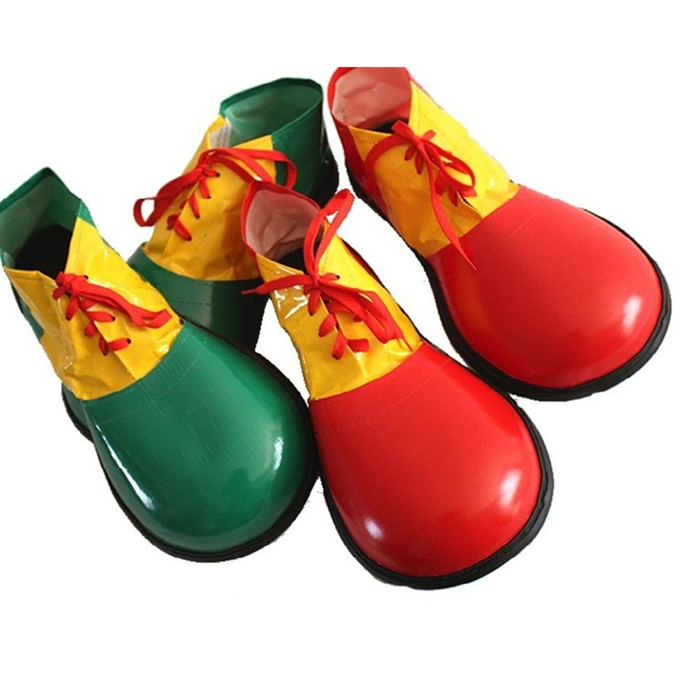 Adults Funny Artificial Leather Circus Clown Shoes Halloween Party Prop Costume Accessories