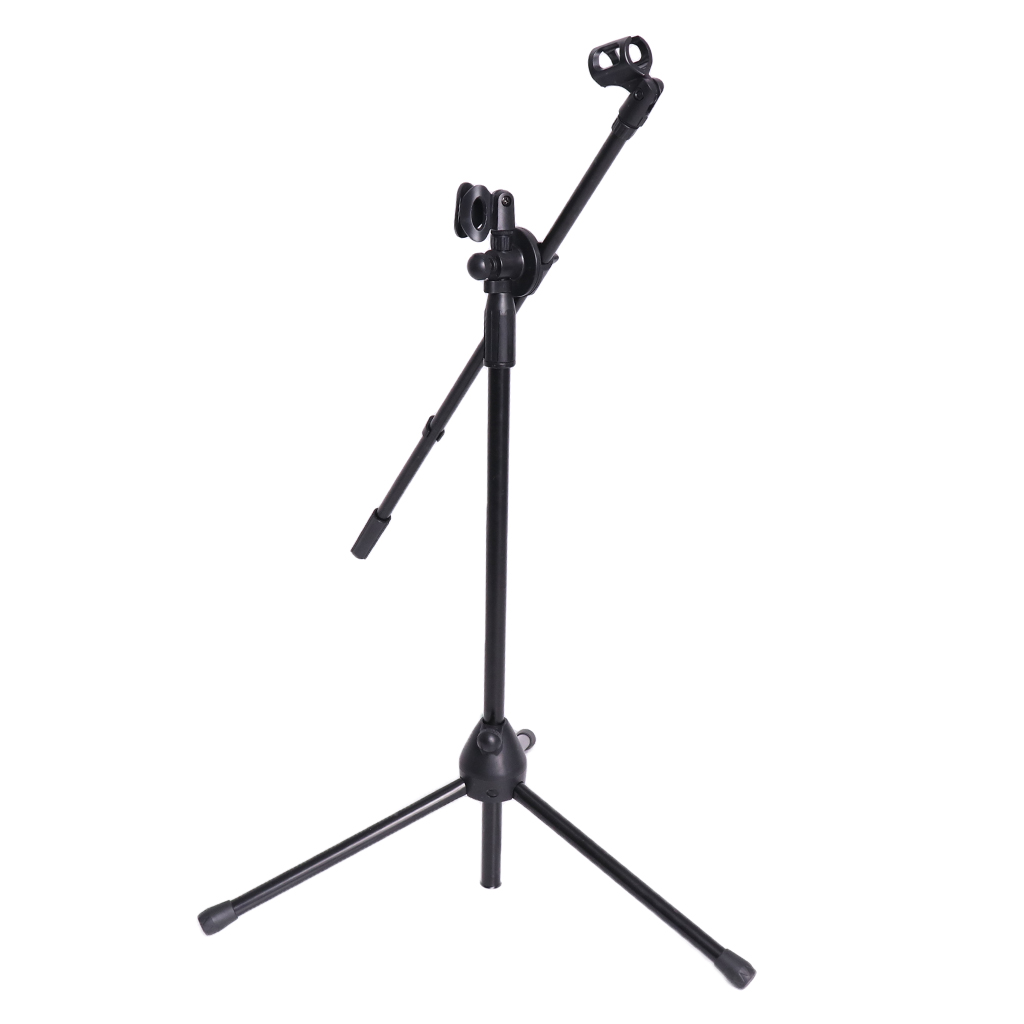 Mic Stand Dual Clip 360-degree Rotating Boom Arm Tripod For Public Amenities