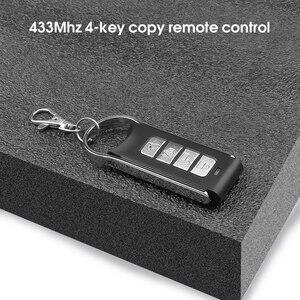 Image 2 - Garage Gate Door 433MHZ Remote Control Key Ring Auto Pair Copy Remote Garage Door Opener Remote Controller Duplicator Universal