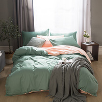 2020 جديد فراش سرائر للمنازل القطن مجموعة أغطية سرير الصلبة مجموعة 100% القطن AB الجانب حاف مجموعة غطاء السرير موجز نمط 3/4 قطعة طقم سرير