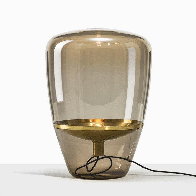 Nordic glas boden lampe Norden Europäischen und Amerikanischen schlafzimmer led wohnzimmer villa einfache ausstellung halle tisch lampe-in Tischlampen aus Licht & Beleuchtung bei title=