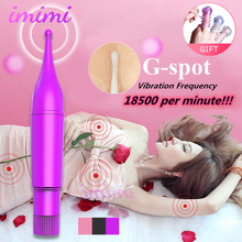 Adult G-Spot Vibrator for Women Lick Clitoris Stimulator Nipple Massager Female Masturbator Mini Bullet Sex Toys