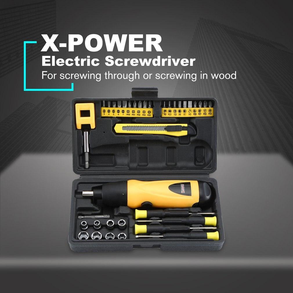 X-power 6V аккумуляторная электрическая отвертка сверло набор бытовой DIY Винт питания драйвер рукав набор инструментов