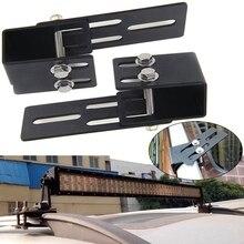 2pcs/set Car Roof Rack Light Bracket Crossbar Luggage-rack Mounting Holder for Work Light Bar For Jeep Ford Off Road SUV
