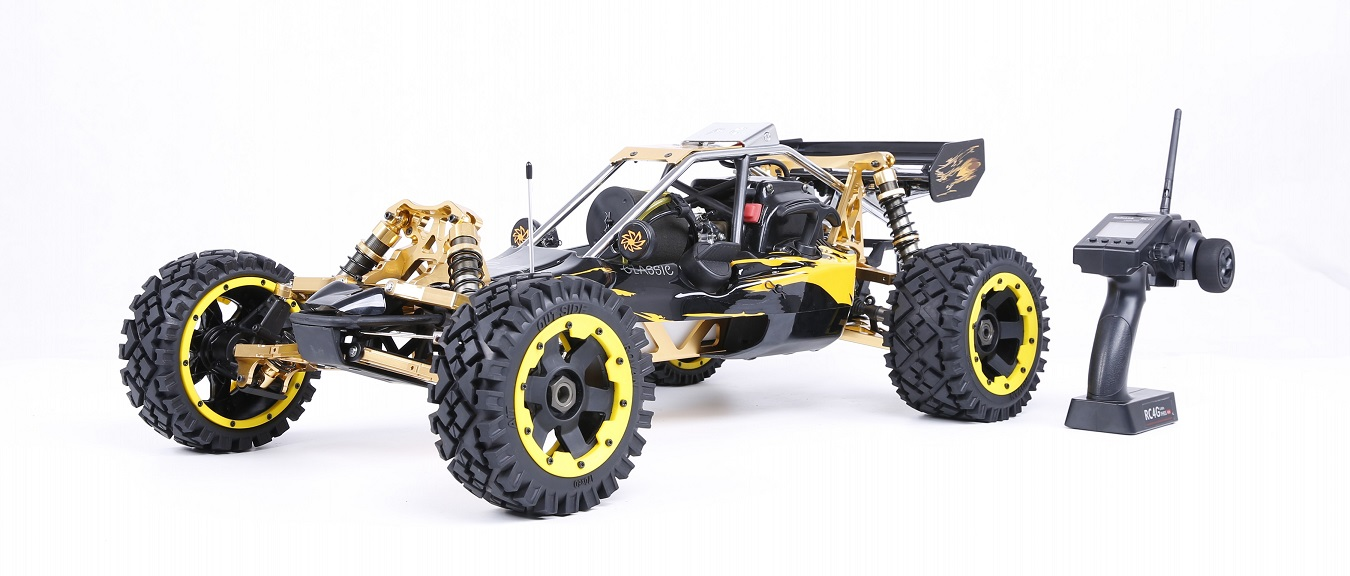 1/5 RC CAR Off-road 36CC Powerful 2t Gasoline Engines 2.4G Remote Control with Symmetrical Steering for Rovan BAJA 5B