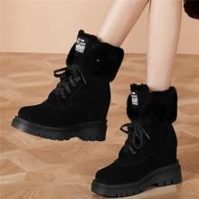 Женские ботильоны из натуральной кожи черные ботинки на высоком