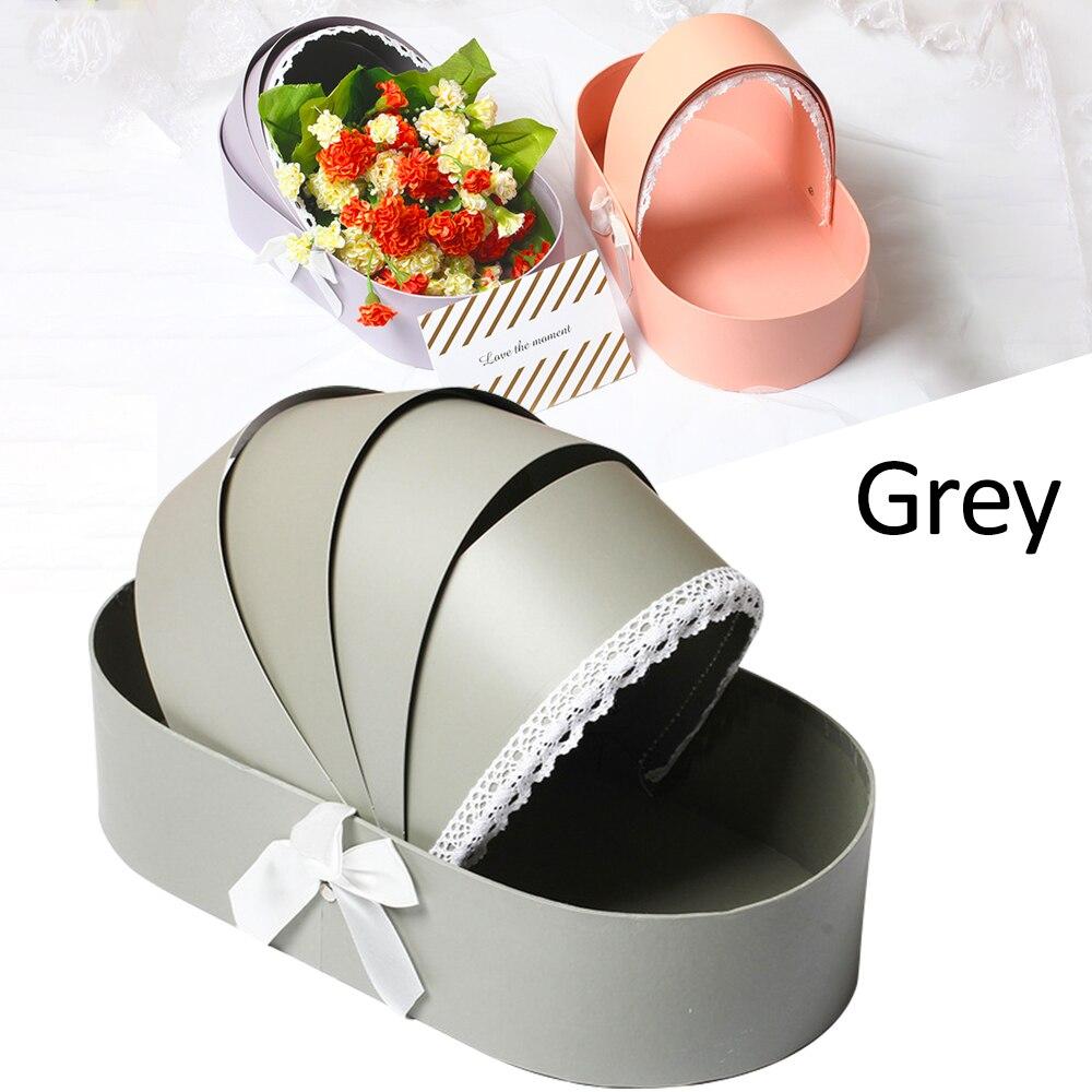 2021 креативная Цветочная коробка, корзина с розами, подарочные коробки с кружевной лентой, романтическая свадебная домашняя Рождественская ...