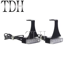 Image 4 - 오토바이 12V 핸들 바 클러치 브레이크 LED 할리 bobber에 대 한 신호 램프 사용자 지정 흐르는 물 깜박이 깜박이 표시기