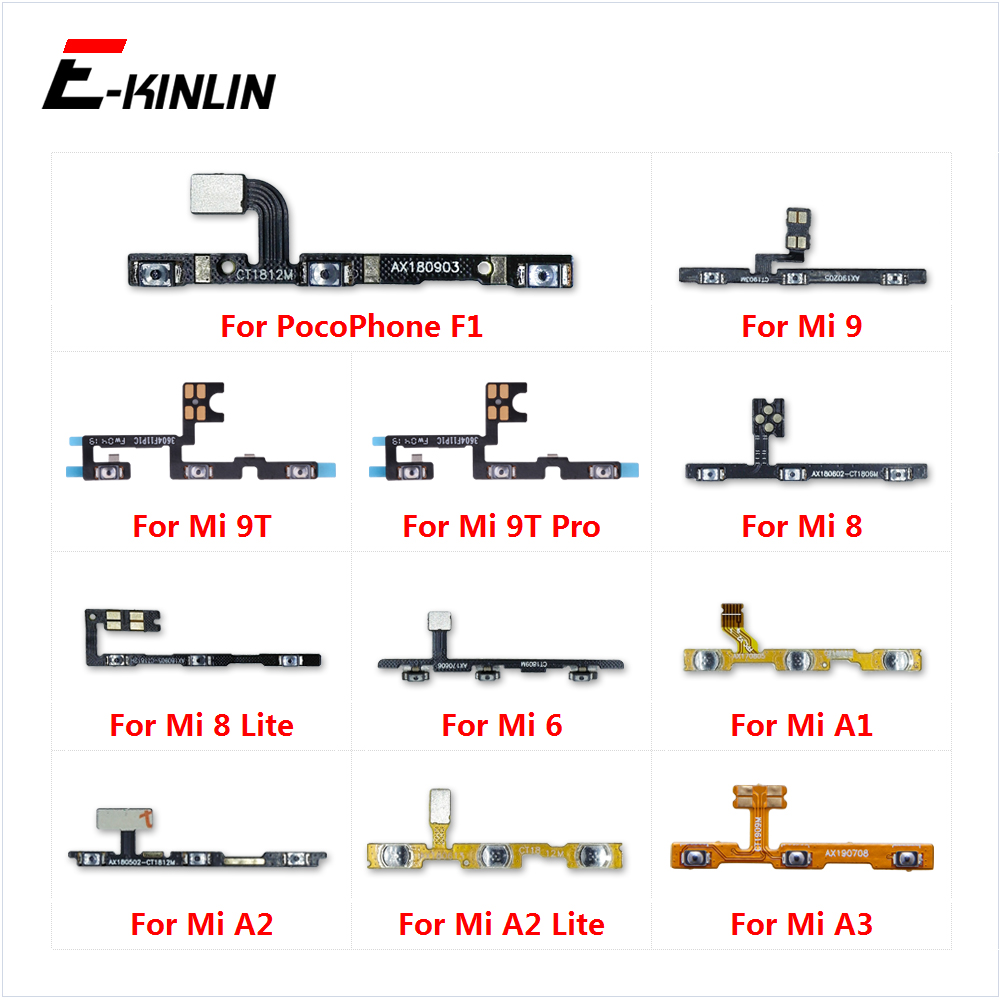 Volume Side Power Switch On Off Button Key Flex Cable For XiaoMi Mi 9T Pro 9 8 A3 A1 A2 Lite Redmi 6 S2 PocoPhone F1
