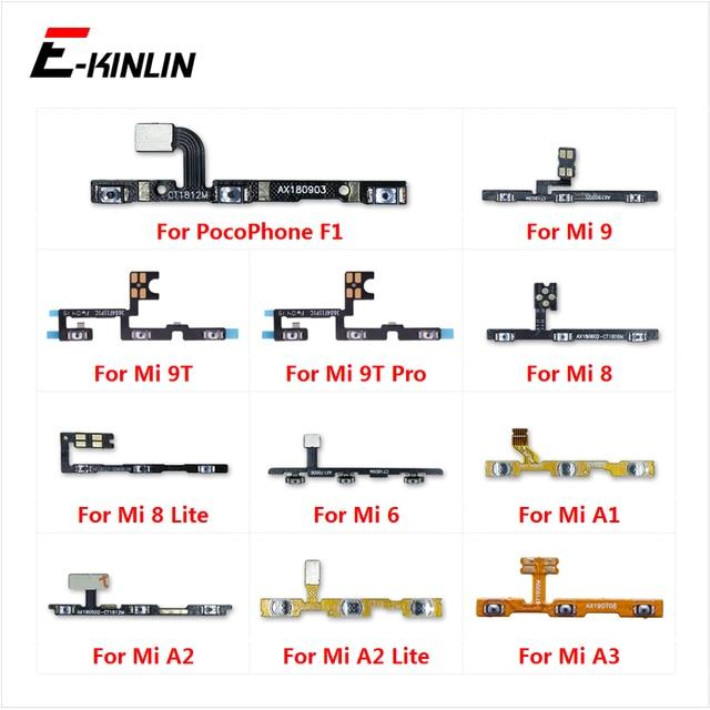 נפח צד כוח מתג על off כפתור מפתח Flex כבל עבור XiaoMi Mi 9T פרו 9 8 A3 A1 a2 לייט Redmi 6 S2 PocoPhone F1