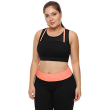 Women Big Plus Size XXXL Fitness Crop Top High Impact Support Bounce Control Push Up Padded Running