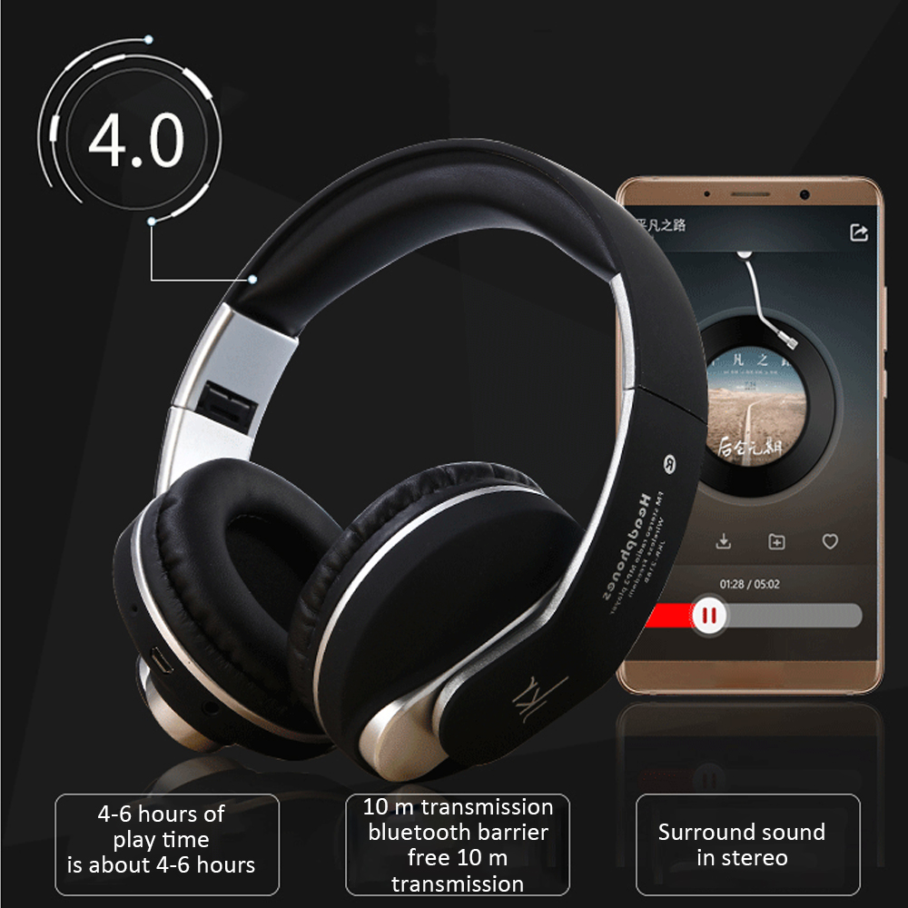 Foldable Original 218b Bluetooth Headphones With Microphone Wireless Headset Bluetooth For Iphone Samsung Xiaomi Headphone Bluetooth Earphones Headphones Aliexpress