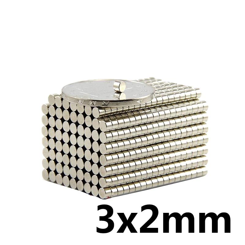20 ~ 3000 sztuk 3x2 szukaj małej średnicy magnes 3mm x 2mm luzem małe okrągłe magnesy 3x2mm płaskie magnesy neodymowe 3*2 silne magnetyczne