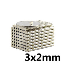 20~3000pcs 3x2 Search Minor Diameter Magnet 3mm x 2mm Bulk Small Round Magnets 3x2mm Neodymium Disc Magnets 3*2 strong magnetic