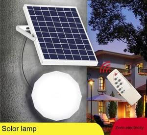 Комнатный Солнечный настенный светильник на солнечной батарее, энергосберегающий потолочный светильник на солнечной батарее, экономия эл...
