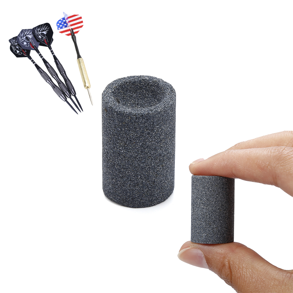 Steel Tip Point Needle Sharpener Round Professional Darts Accessories Sand Stone Sharpening Stone Dart Sharpener Grinder