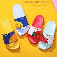 Femmes chaussures tongs antidérapant pantoufles Couple dessin animé bain salle de bain mignon maison pantoufles été sandales diapositives Sandalias Mujer