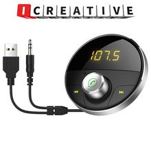 Modulator samochodowy Bluetooth MP3 USB Modulator FM konsola środkowa samochód Mp3 odtwarzacz Bluetooth AUX nadajnik FM samochód MP3 tanie tanio REAKOSOUND Alloy+ABS LED screen None 12 v Odtwarzacze mp3 0 1kg 50*50*27 5MM HY-62 Angielski Black 1 din 1 1 87 5-108 0MHz