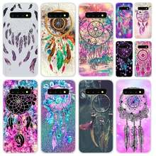 Miękki futerał na telefon do Samsung Galaxy S8 S9 S10 S20 Plus S6 S7 krawędzi uwaga 10 8 9 okładka Dream catcher akwarela dreamcatcher(China)